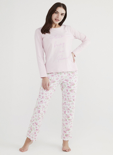 Penti Kadın  Pijama Takımı  Ana Kumaş Elastane 5,00 Ana Kumaş Cotton 100,00 Ana Kumaş Cotton 95,00   Renkli